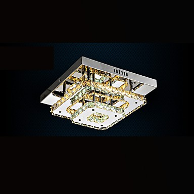 LED Crystal Ceiling Lamps Flush Mount Clear or Amber K9 for Indoor CE