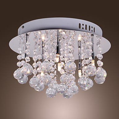 Max20W Modern/Contemporary Crystal Chrome Metal Flush Mount Bedroom