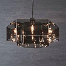 Rustic/Lodge Painting Feature for Designers Metal Dining Room Indoor Hallway 6 Bulbs Chandelier