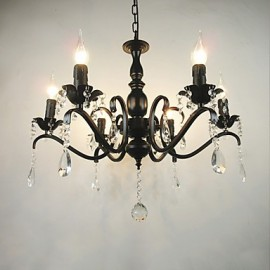 Living Room Chandelier Simple Crystal Iron Candle Lights Living Room Decoration Lamps Lighting