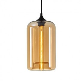 Bottle Design Pendant 1 Light Minimalist Iron Painting
