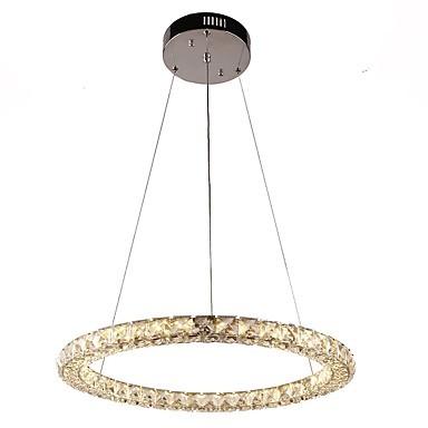 modern ring crystal pendant lights led crystal chandeliers ceiling light indoor lamps fixtures. Black Bedroom Furniture Sets. Home Design Ideas