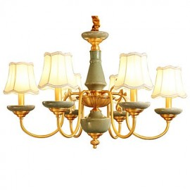 All Copper Chandelier Jade Decorative Living Room Chandelier 6A