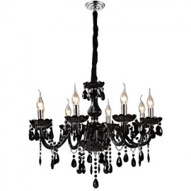 Modern/Contemporary Electroplated Feature for Crystal Glass Living Room Chandelier