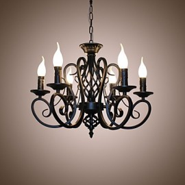 European Style Chandeliers Living Room Dining Lights Simple Originality Innovative Candles 6 Light Lamps