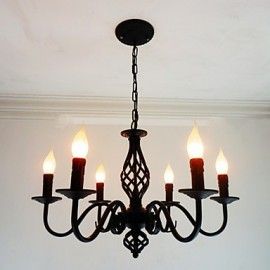 Artistic Chic & Modern Others Feature for Candle Style Metal Living Room Indoors Dining Room 6 Bulbs Chandelier