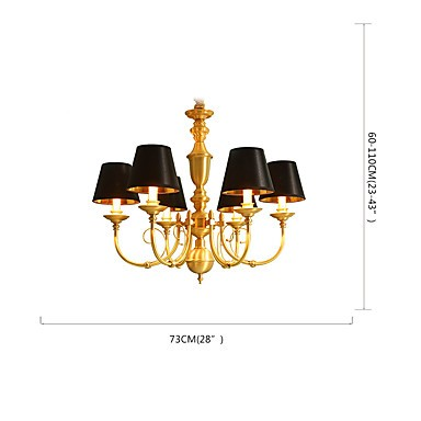 Chandelier Traditional Classic Country Brass Feature For