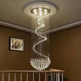 Modern LED Crystal Ceiling Chandeliers Lights Indoor Pendant Lamp Deco Light  Lighting Fixtures
