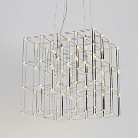 Modern Led Chandelier Light Stainless Steel 90-240V Lamp for Living Room Hotel Loft Lighting