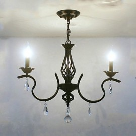 European Style Crystal Chandelier Restaurant Small Chandelier Simple Creative Lamps