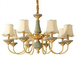 All Copper Chandelier Jade Decorative Living Room Chandelier KP8