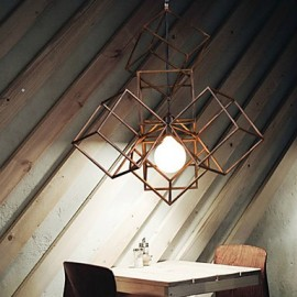 Pendant, 1 Light, Vintage Minimalist Iron Painting Chandeliers