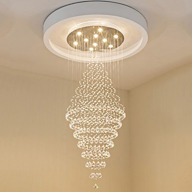 Contemporary Led Crystal Ceiling Pendant Lights Modern