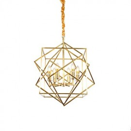 Lantern Brass Feature for Designers Metal Living Room Bedroom Dining Room Chandelier