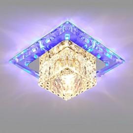 14CM Mini Crystal Ceiling Lamp Spotlight LED 3W Creative Lamp Tube Light Colorful Color Square Dome Light