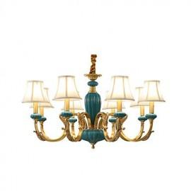 All Copper Chandelier Jade Decorative Living Room Chandelier KP