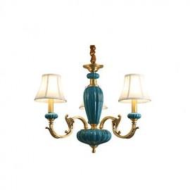 All Copper Chandelier Jade Decorative Living Room Chandelier OP