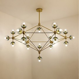 Twenty_one Light Post Modern Europe Style Modo Metal Glass Pendant Lamp for the Bedroom / Living Room / Foyer Decorate Industrial Chandelier Lamp