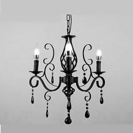 Crystal Lamp 3 Light Modern Simple Living Room Bedroom Novelty Lightings
