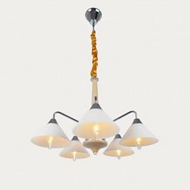 5 Light Modern/Contemporary Chandelier for Study Room/Office, Dining Room, Bedroom, Living Room