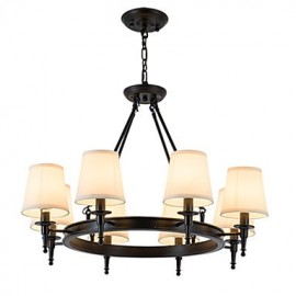 8 Lights Flush Mounted Fixture Chandelier One Light Two Style Modern/Contemporary Traditional/Classic Rustic Painting