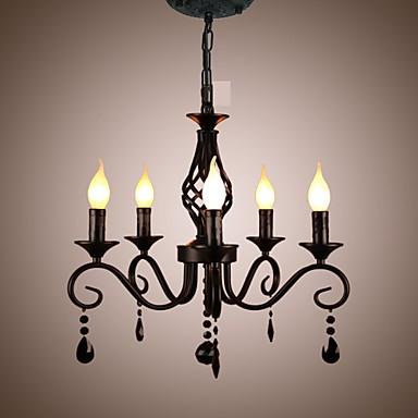 Traditional Crystal Chandelier Interior Lighting 5 Light