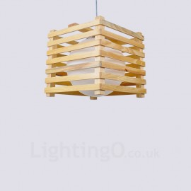 1 Light Wood Modern / Contemporary Nordic style Pendant Lights with Glass Shade for Bathroom,Living Room,Study,Kitchen,Bedroom,Dining Room,Bar