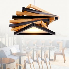 1 Light Wood Modern / Contemporary Pendant Lights with Wood Shade for Bathroom,Living Room,Study,Kitchen,Bedroom,Dining Room,Bar