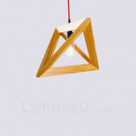 1 Light Wood Modern / Contemporary Pendant Lights with Wood Shade for Living Room,Dining Room,Study,Bedroom,Bar