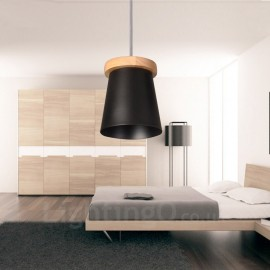1 Light Wood Modern / Contemporary Nordic style Pendant Lights with Iron Shade for Living Room,Dining Room,Study,Bedroom,Bar