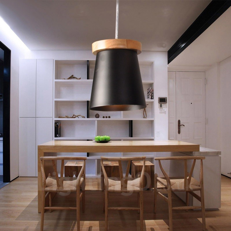 Light Filled Contemporary Living Rooms: 1 Light Wood Modern / Contemporary Nordic Style Pendant