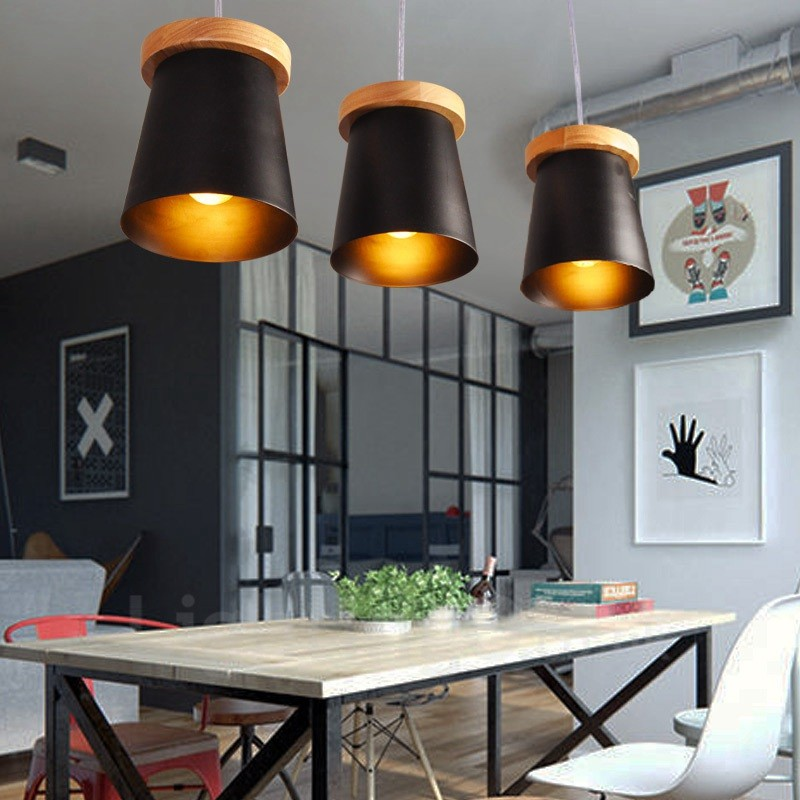 Light Filled Contemporary Living Rooms: 3 Light Wood Modern / Contemporary Nordic Style Pendant