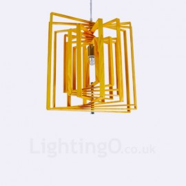 1 Light Wood Modern / Contemporary Nordic style Pendant Lights with Wood Shade for Bathroom,Living Room,Study,Kitchen,Bedroom,Dining Room,Bar