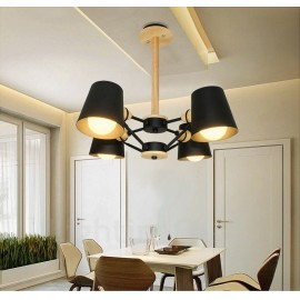 4 Light Wood Modern / Contemporary Nordic style Pendant Lights with Iron Shade for Living Room,Dining Room,Study,Bedroom,Bar
