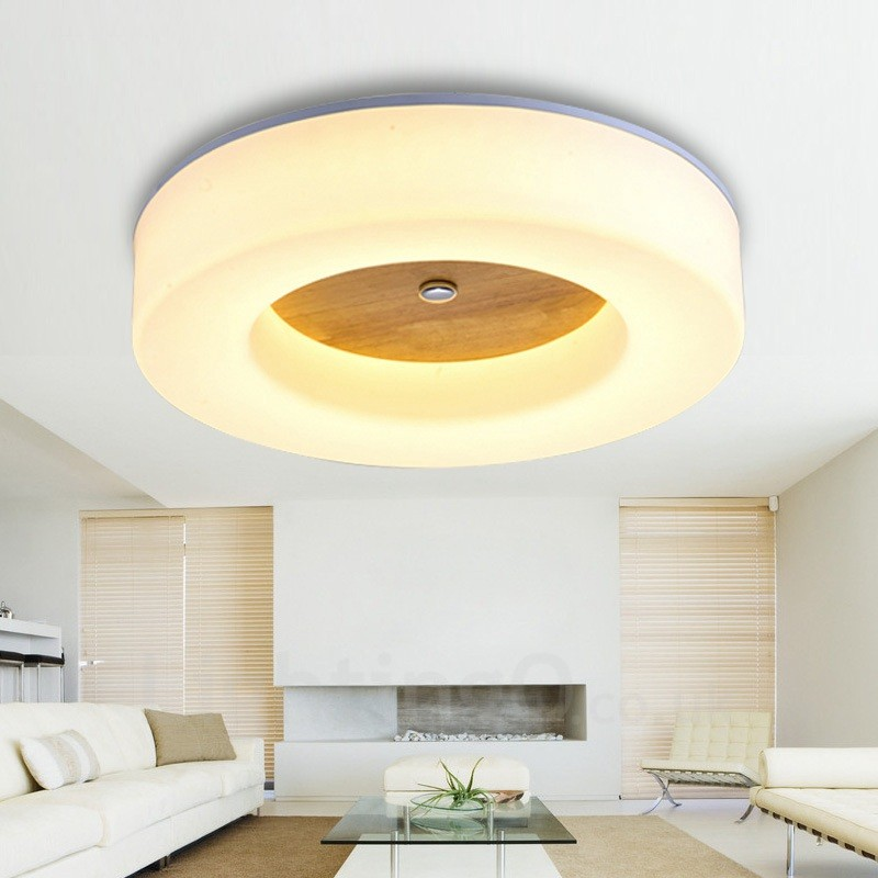 24w Modern Contemporary Nordic Style Flush Mount Ceiling Lights With Acrylic Shade For