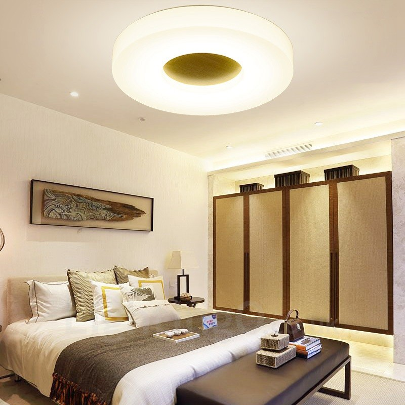 Light Filled Contemporary Living Rooms: 12w Modern / Contemporary Flush Mount Ceiling Lights With
