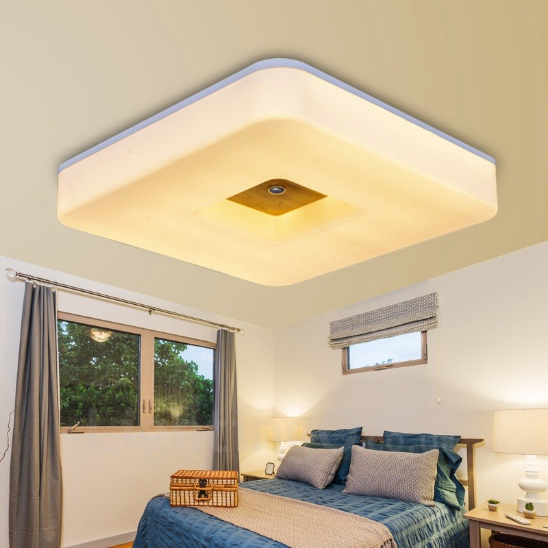 36w Modern Contemporary Nordic Style Flush Mount Ceiling Lights With Acrylic Shade For
