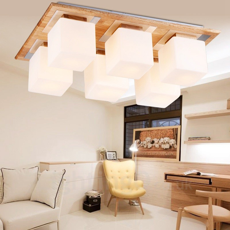 Ceiling Lamp Shades For Living Room: 6 Light Modern / Contemporary Flush Mount Ceiling Lights