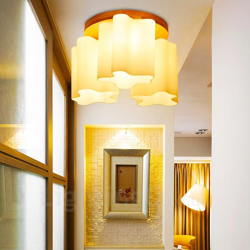 Ceiling Lamp Shades For Living Room: 3 Light Modern / Contemporary Flush Mount Ceiling Lights