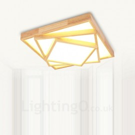 24W Modern / Contemporary Nordic style Flush Mount Ceiling Lights with Acrylic Shade for Bathroom,Living Room,Study,Kitchen,Bedroom,Dining Room,Bar