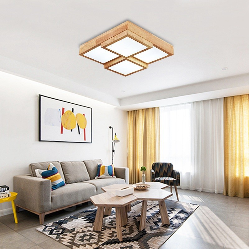 24w modern contemporary nordic style flush mount ceiling - Living room bedroom bathroom kitchen ...