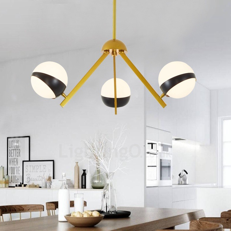3 light modern contemporary nordic style ceiling lights for Contemporary bathroom ceiling lights