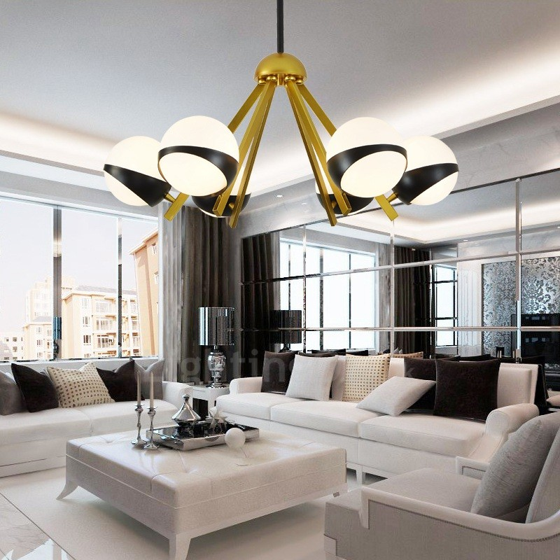 6 Light Modern Contemporary Nordic Style Ceiling Lights