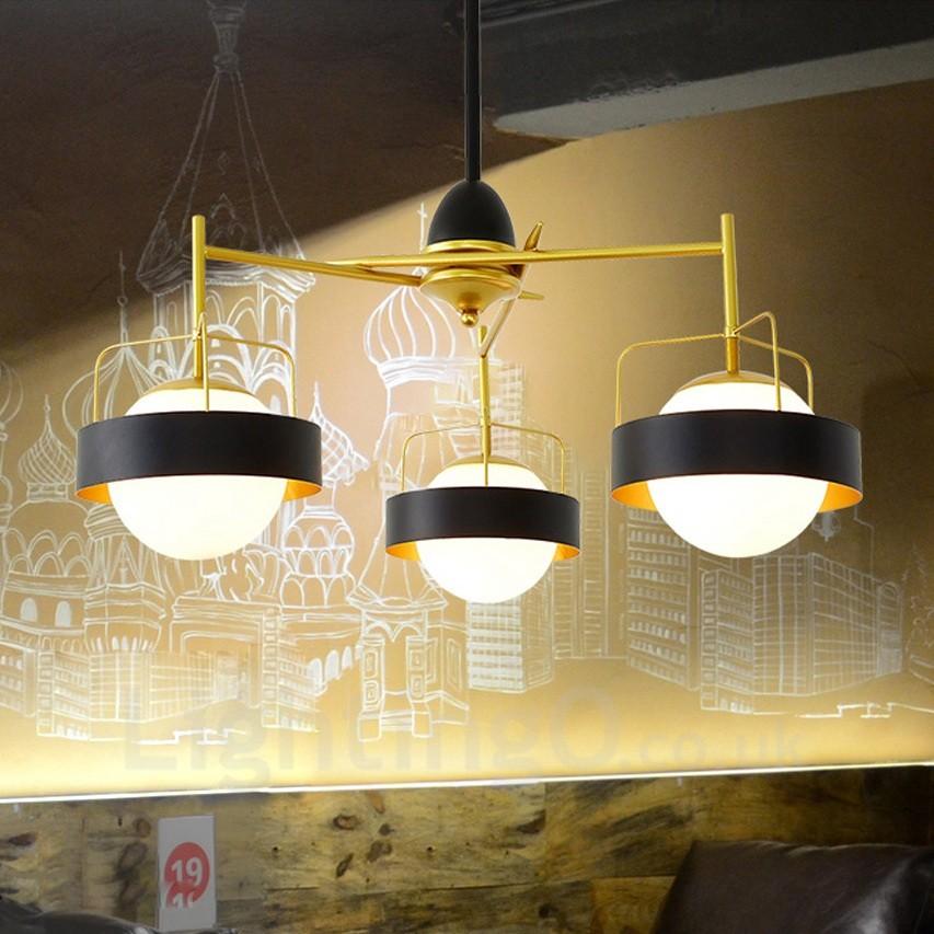 3 Light Modern / Contemporary Ceiling Lights Copper