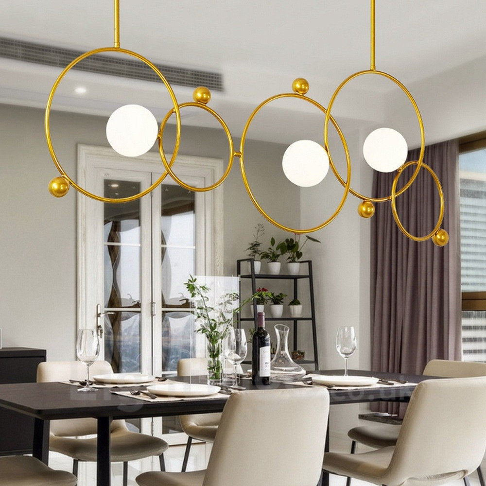 3 Light Modern / Contemporary Ceiling Lights Copper ...