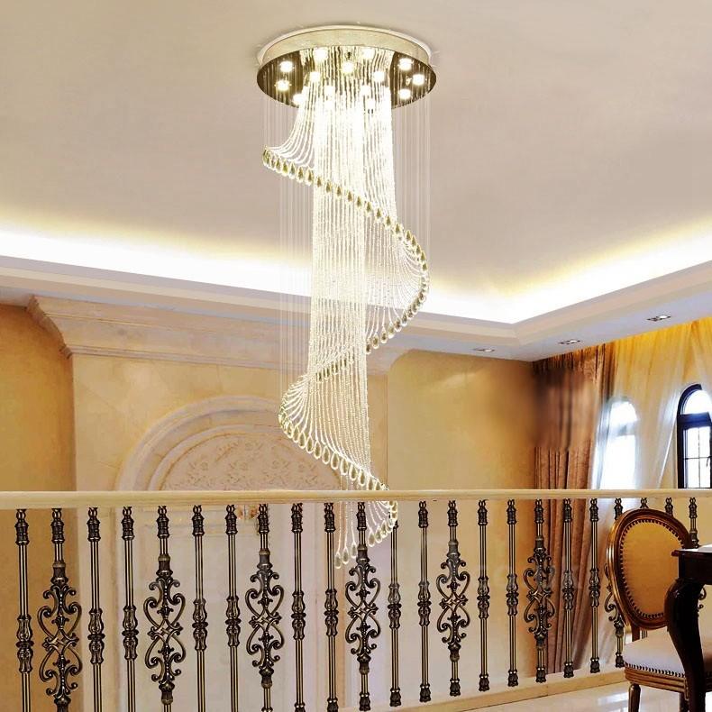 15 Lights Modern LED Crystal Ceiling Pendant Light Indoor