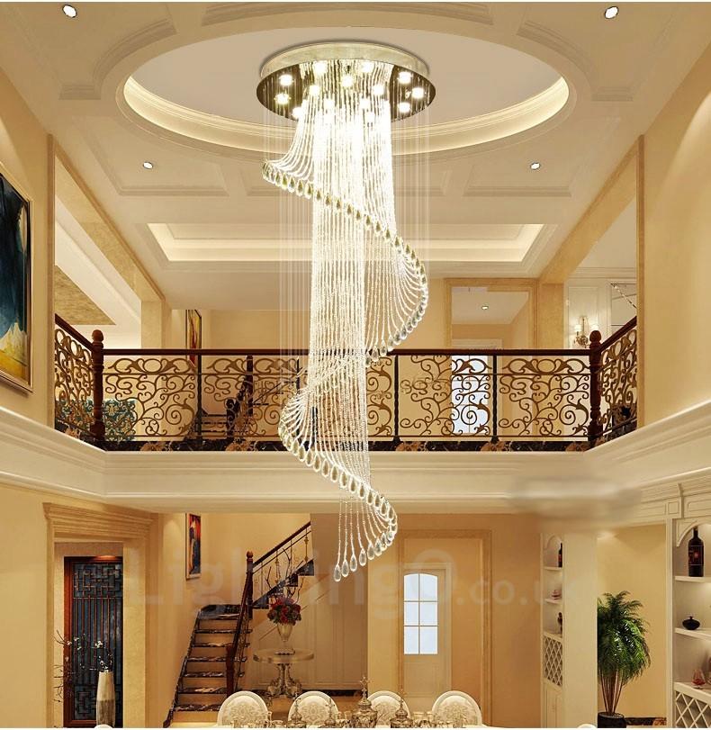 Led Lighting Fixtures Home: 15 Lights Modern LED Crystal Ceiling Pendant Light Indoor