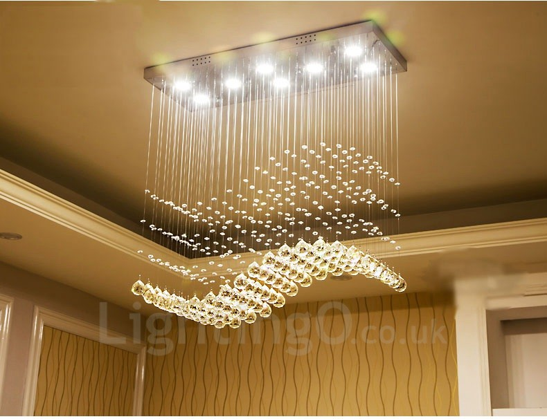 Dimmable modern led crystal ceiling pendant light indoor chandeliers dimmable modern led crystal ceiling pendant light indoor chandeliers home hanging down lighting lamps fixtures with aloadofball Choice Image
