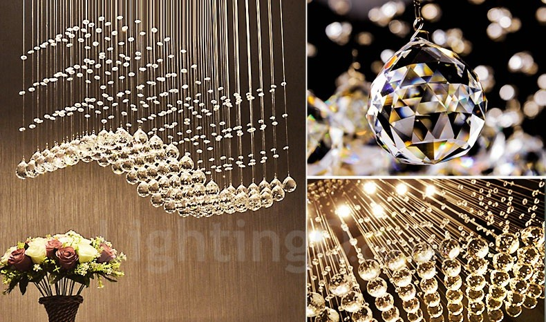 Dimmable modern led crystal ceiling pendant light indoor chandeliers dimmable modern led crystal ceiling pendant light indoor chandeliers home hanging down lighting lamps fixtures with mozeypictures Images