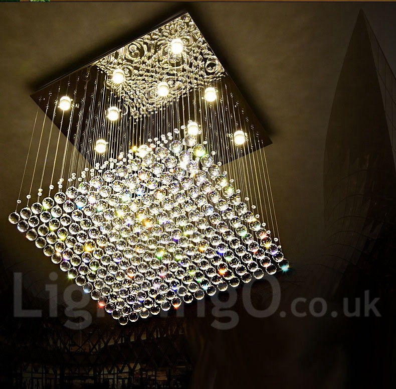 Dimmable Modern Led Crystal Ceiling Pendant Light Indoor Chandeliers Home Hanging Down Lighting